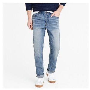J crew men straight flex jeans so cal wash